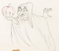 Animation Art:Production Drawing, Snow White and the Seven Dwarfs Old Hag with Apple Animation Drawing (Walt Disney, 1937)....