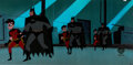 Animation Art:Production Cel, The New Batman Adventures Batman and Robin Pan Production Cel Sequence of 3 (Warner Brothers, 1997-99).... (Total: 2 )