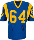 """Football Collectibles:Uniforms, 1975-80 Jack """"Hacksaw"""" Reynolds Game Worn Los Angeles Rams Jersey...."""