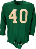 Football Collectibles:Uniforms, 1961 Tom Brookshire Game Worn & Unwashed Philadelphia Eagles Jersey From His Last NFL Game with Provenance....
