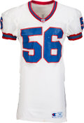 Football Collectibles:Uniforms, 1990's Darryl Talley Game Worn & Signed Buffalo Bills Jersey with Equipment Manager Provenance....