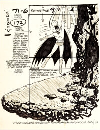 Super Friends Batman and Robin Concept/Layout Drawing by Alex Toth (Hanna-Barbera, 1973)