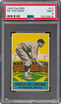 Baseball Cards:Singles (Pre-1930), 1933 Delong Pie Traynor #12 PSA Mint 9 - Pop One, None Higher! ...