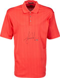 Golf Collectibles:Miscellaneous, 2000's Tiger Woods Signed Limited Edition UDA Golf Shirt....