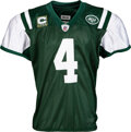 Football Collectibles:Uniforms, 2008 Brett Favre Game Worn & Signed New York Jets Jersey - Worn 9/14 vs. New England, Photo Matched. ...