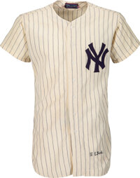 1954 Whitey Ford Game Worn New York Yankees Jersey, Photo Matched to All-Star Game