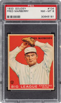 Baseball Cards:Singles (1930-1939), 1933 Goudey Fred Marberry #104 PSA NM-MT 8 - Only One Higher....