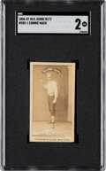 Baseball Cards:Singles (Pre-1930), 1887-90 N172 Old Judge Connie Mack (#285-1) SGC Good 2 - Only Three Confirmed SGC Examples. ...