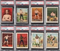 """Boxing Cards:General, 1910 T220 Mecca """"Champions Boxing"""" Near Set (47/50) Plus Silver Border Variations. ..."""