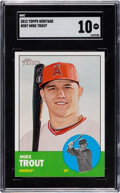 Baseball Cards:Singles (1970-Now), 2012 Topps Heritage Mike Trout #207 SGC Gem Mint 10....