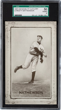 1907-09 Novelty Cutlery Christy Mathewson SGC 50 VG/EX 4 - Pop One, One Higher