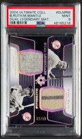 Baseball Cards:Singles (1970-Now), 2004 Ultimate Collection Dual Legendary Materials Babe Ruth/Joe DiMaggio Pants Relic #DLM-RD PSA Mint 9 - Serial Numbered 31/5...