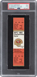 Football Collectibles:Tickets, 1981 NFC Championship Game Full Ticket, PSA Good 2 - The Catch!...
