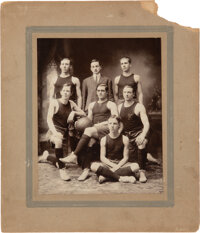 1913 Keuka College Basketball Team Oversized Cabinet Photograph
