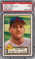 Baseball Cards:Singles (1950-1959), 1952 Topps Wally Westlake (Black Back) #38 PSA Mint 9 - Pop Five, None Higher! ...