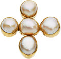 Estate Jewelry:Brooches - Pins, Mabe Pearl, Gold Pendant-Brooch. ...