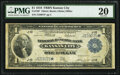 Large Size:Federal Reserve Bank Notes, Fr. 739* $1 1918 Federal Reserve Bank Note PMG Very Fine 20.. ...