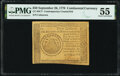 Continental Currency September 26, 1778 $50 Contemporary Counterfeit PMG About Uncirculated 55