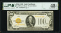 Small Size:Gold Certificates, Fr. 2405 $100 1928 Gold Certificate. PMG Choice Extremely Fine 45 EPQ.. ...