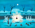 "Animation Art:Concept Art, Mary Blair Cinderella ""Bibbidi-Bobbidi-Boo"" Concept/Color Key Painting (Walt Disney, 1950)...."