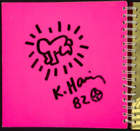 Keith Haring (1958-1990) Radiant Baby Drawing, 1982 Spiral bound softcover book 9 x 9-3/4 inches