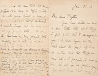 Beatrix Potter. Autograph letter signed, sent to a child who had written to the author asking her to include Fluffy (the...