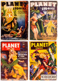 Pulps:Science Fiction, Planet Stories Group of 6 (Fiction House, 1946-52) Condition: Average GD.... (Total: 6 Items)