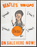 "Music Memorabilia:Posters, The Beatles Pin Ups ""Screamers"" Rare Promotional Poster By Artist Gordon Currie (1964)...."