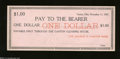 Obsoletes By State:Ohio, Canton, OH- George D. Harter Bank $1 Nov. 11, 1907