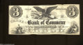 Obsoletes By State:Rhode Island, Providence, RI- Bank of Commerce $3 July 1, 1856