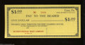Miscellaneous:Depression Scrip, Erie, PA- Erie Clearing House $1 Mar. 10, 1933 Choice ...