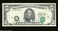 Error Notes:Shifted Third Printing, Fr. 1972-J $5 1969-C Federal Reserve Note. Very Fine. The ...