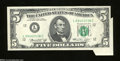 Error Notes:Attached Tabs, Fr. 1973-L $5 1974 Federal Reserve Note. About Uncirculated.