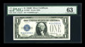 Small Size:Silver Certificates, Fr. 1602* $1 1928B Silver Certificate. PMG Choice Uncirculated 63.. ...