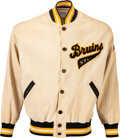 Hockey Collectibles:Others, 1958-59 Ken Yackel, Sr. NHL Playoff Game Worn Boston Bruins Jacket & Original News Photograph from The Ken Yackel Collection....