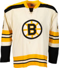 1971-72 Bobby Orr Game Worn Boston Bruins Jersey--Stanley Cup Championship Season, Photo Matched!
