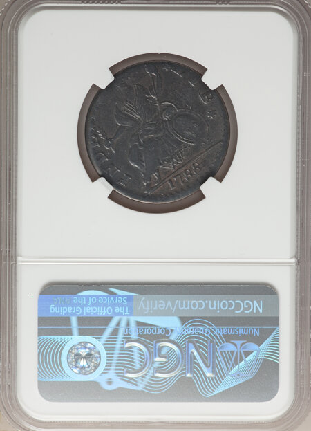 1788 Connecticut Copper, Mailed Bust Left, MS, BN 35 NGC