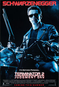 """Terminator 2: Judgment Day (Tri-Star, 1991). Rolled, Very Fine+. One Sheet (26.75"""" X 39.75"""") DS Advance. Scien..."""
