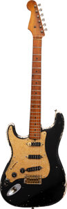 Musical Instruments:Electric Guitars, 1957 Fender Stratocaster Left-Handed Black Solid Body Electric Guitar, Serial #-20786.. ...