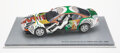 Collectible, David Hockney X BMW Museum. BMW 850 CSi Art Car, 2003. 1/18 scale die-cast model car with acrylic display and paperback ...