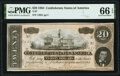 Confederate Notes:1864 Issues, T67 $20 1864 PF-15 Cr. 515 PMG Gem Uncirculated 66 EPQ.. ...