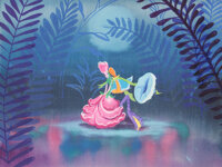 Mary Blair Fiesta of the Flowers Concept/Color Key Painting (Walt Disney, c. 1943-45)