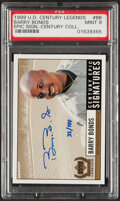Baseball Cards:Singles (1970-Now), 1999 UD Century Legends Century Epic Signatures Barry Bonds Autograph #BB PSA Mint 9 - Hand Numbered 32/100....