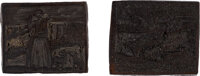 Two engraved woodblocks attributed to the first American edition of The History of Little Goody Two-Shoes; otherwise...