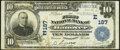 National Bank Notes:Pennsylvania, Hanover, PA - $10 1902 Plain Back Fr. 624 The First National Bank Ch. # (E)187 Fine-Very Fine.. ...