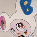 Prints & Multiples, Takashi Murakami (b. 1962). And Then X6 (White: The Superflat Method Pink and Blue Ears), 2013. Offset lithograph in col...