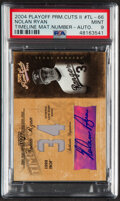 Baseball Cards:Singles (1970-Now), 2004 Playoff Prime Cuts II Timeline Material Number Nolan Ryan Autograph Jersey Relic Card #TL-66 PSA Mint 9....