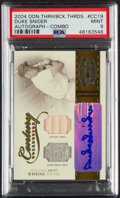 Baseball Cards:Singles (1970-Now), 2004 Donruss Throwback Threads Century Collection Duke Snider Autograph Relic Combo #CC-19 PSA Mint 9 - Serial Numbered 4/5....