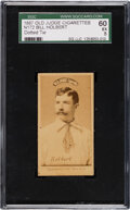 Baseball Cards:Singles (Pre-1930), 1887-90 N172 Old Judge Bill Holbert (Dotted Tie) SGC 60 EX 5. ...