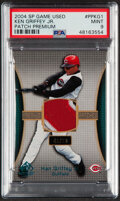 Baseball Cards:Singles (1970-Now), 2004 SP Game Used Premium Patches Ken Griffey Jr. Relic #PP-KG1 PSA Mint 9....
